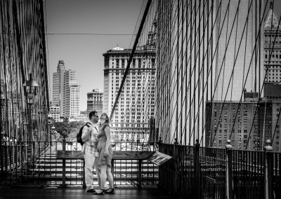 The lovers at the Brooklyn bridge