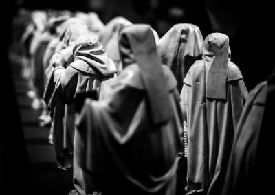 Monjes en peregrinación